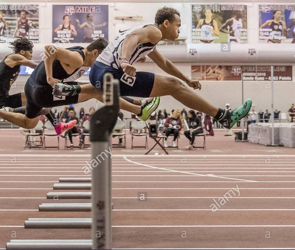 Cameron Wilmington back to back victories Boys 60-meter hurdles