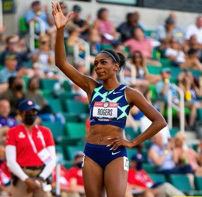 Olympian Raevyn Rogers runs lifetime best in 800m